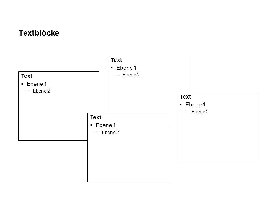 Textblöcke Ebene 1 –Ebene 2 –Ebene 3 Text Ebene 1 –Ebene 2 –Ebene 3
