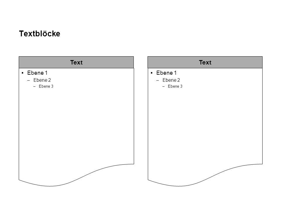 Prozessfluss Text Ebene 1 –Ebene 2 Ebene 1 –Ebene 2 Ebene 1 –Ebene 2