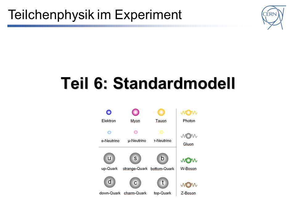 Teil 6: Standardmodell Teilchenphysik im Experiment