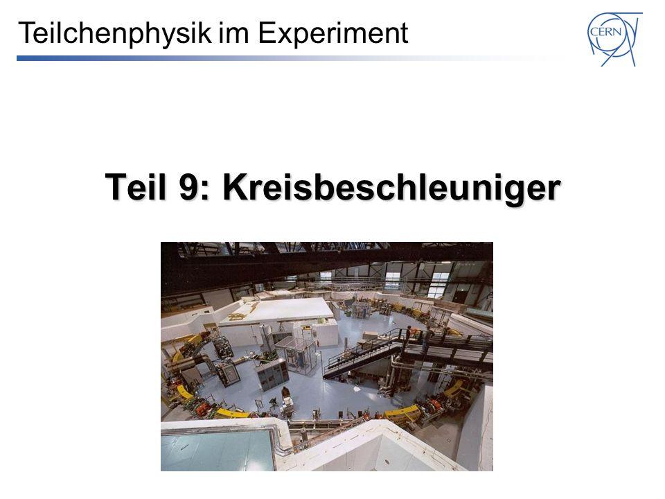 Teil 9: Kreisbeschleuniger Teilchenphysik im Experiment