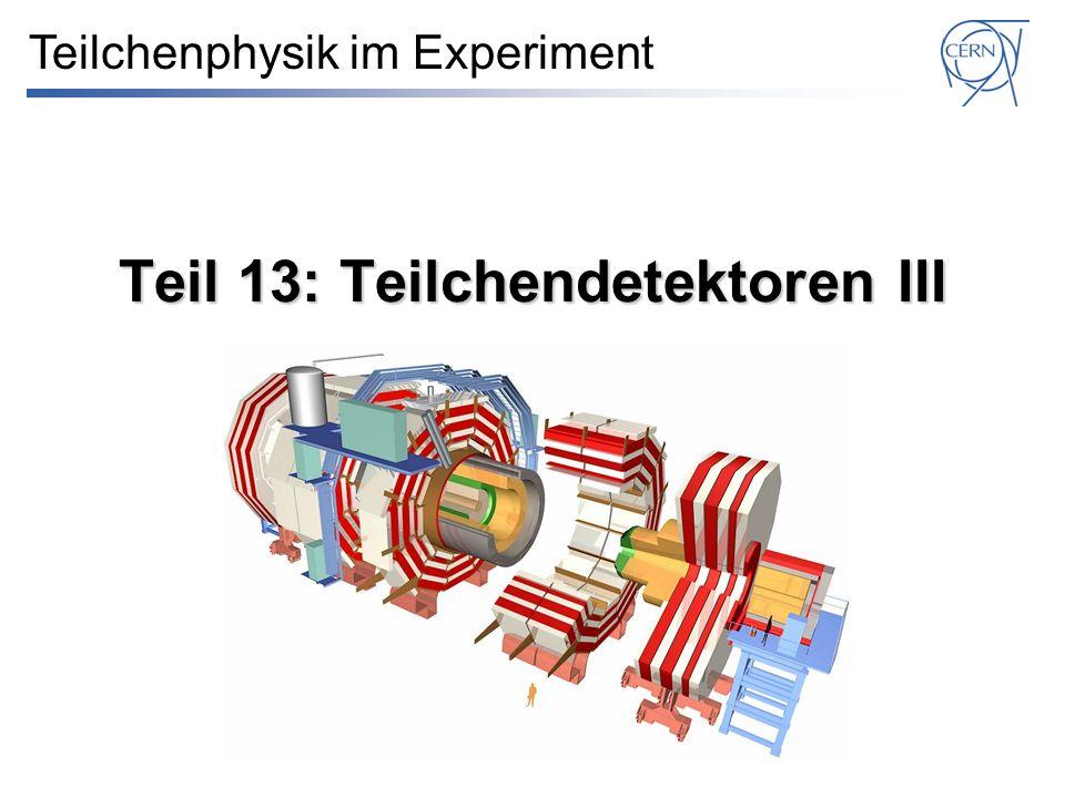Teil 13: Teilchendetektoren III Teilchenphysik im Experiment
