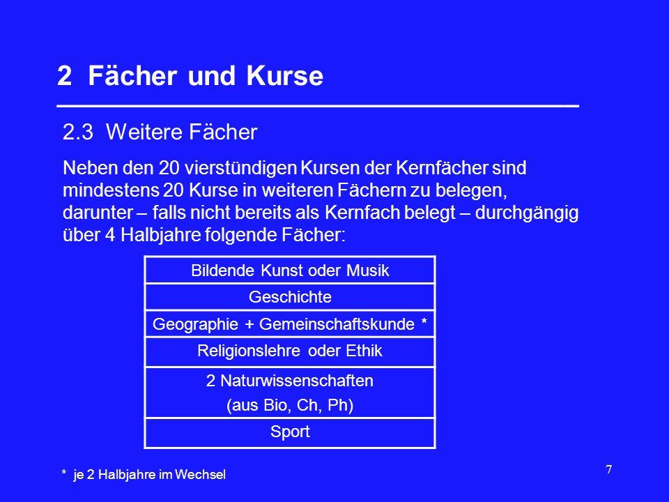 8 2 Fächer und Kurse __________________________________ 2.4 Besondere Lernleistung (BLL) Neben bisher aufgeführten Kursen kann eine Besondere Lernleistung (BLL) belegt bzw.