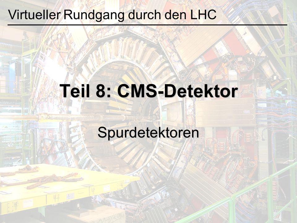 Teil 8: CMS-Detektor Spurdetektoren Virtueller Rundgang durch den LHC