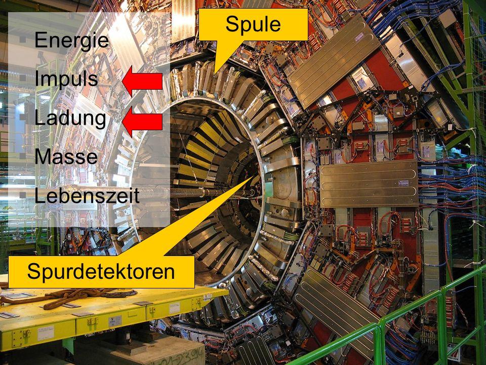 Energie Impuls Ladung Masse Lebenszeit Spurdetektoren Spule