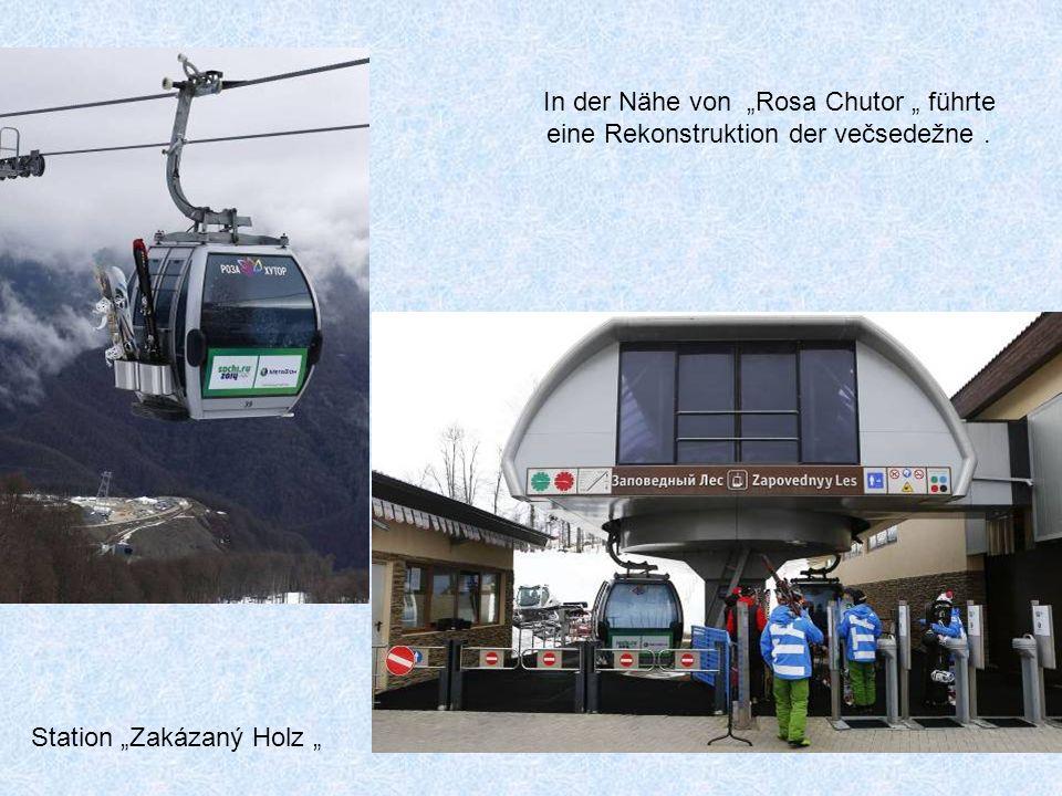 Das Skigebiet, Pik Rosa '. Höhe oben : 2320 Meter, das Tal ist 1750 m tiefer.