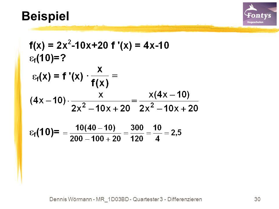 Dennis Wörmann - MR_1D03BD - Quartester 3 - Differenzieren30 Beispiel