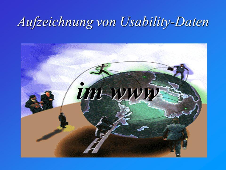 Aufzeichnung von Usability-Daten im www