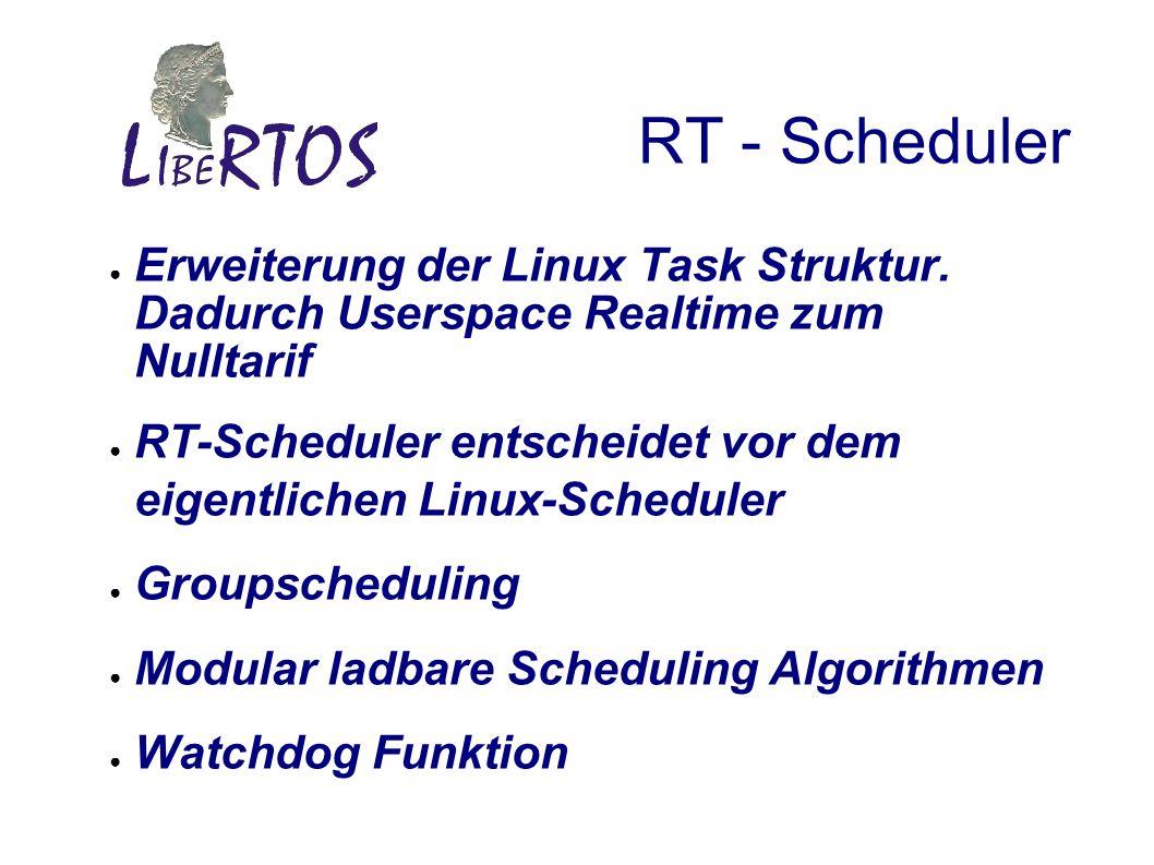 RT - Scheduler Erweiterung der Linux Task Struktur.