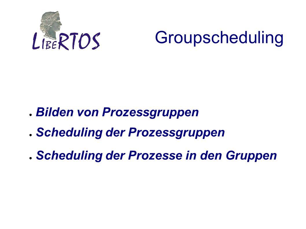 Groupscheduling Bilden von Prozessgruppen Scheduling der Prozessgruppen Scheduling der Prozesse in den Gruppen