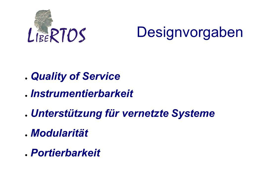 Designvorgaben Quality of Service Instrumentierbarkeit Unterstützung für vernetzte Systeme Modularität Portierbarkeit
