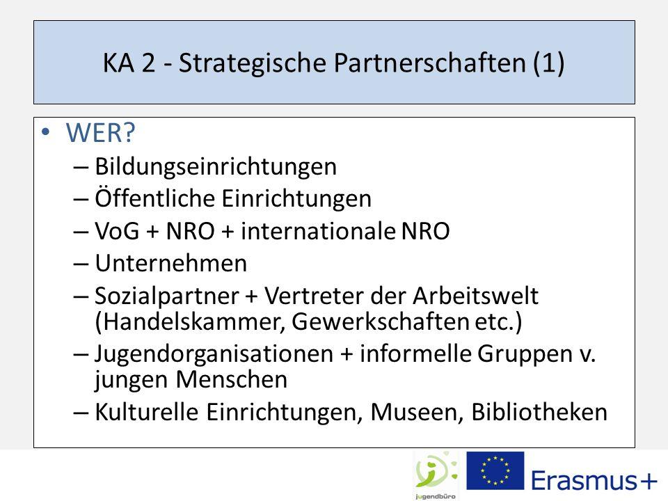 KA 2 - Strategische Partnerschaften (1) WER.