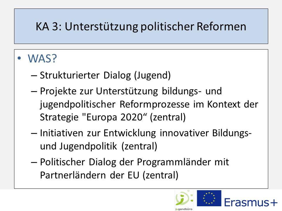 KA 3: Unterstützung politischer Reformen WAS.