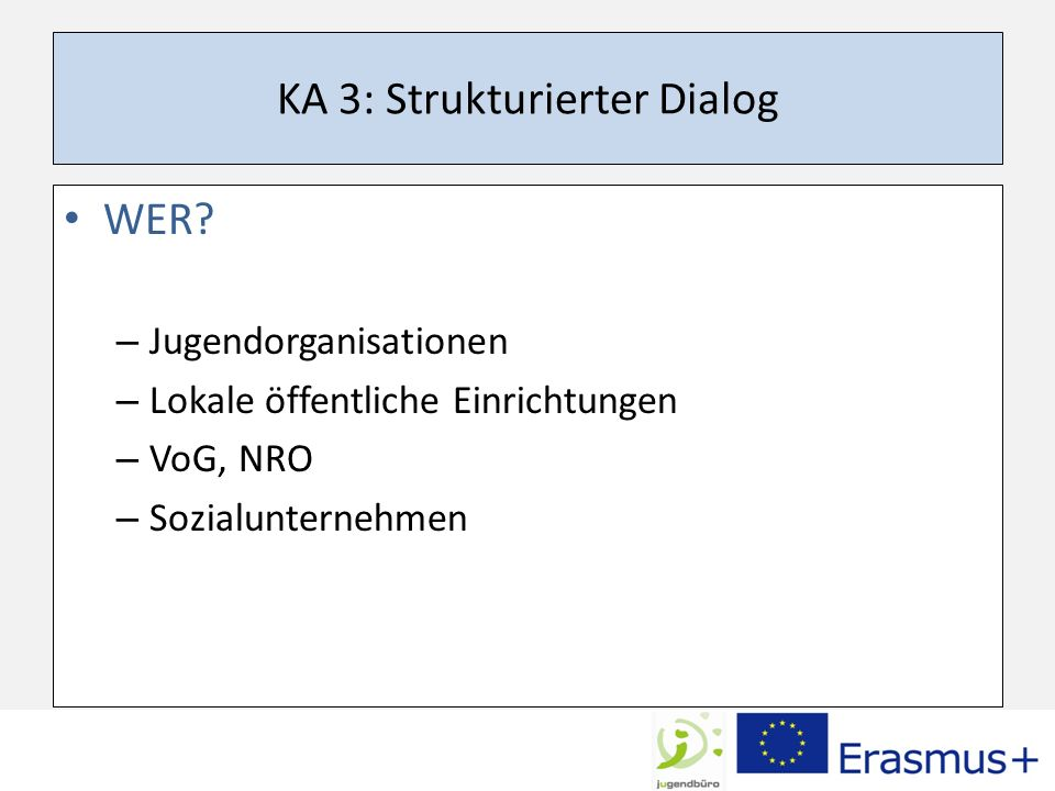 KA 3: Strukturierter Dialog WER.