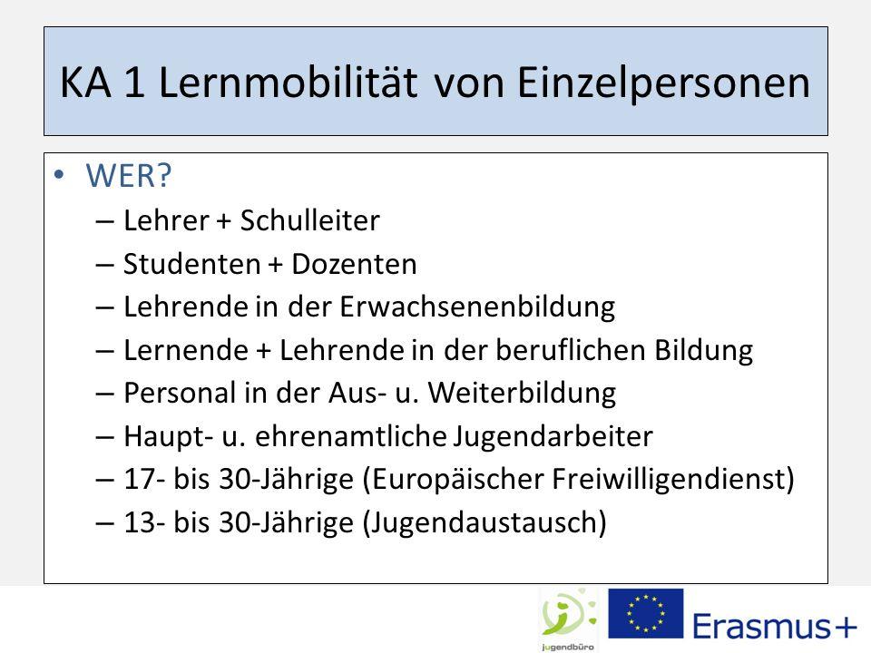 KA 1 Lernmobilität von Einzelpersonen WER.
