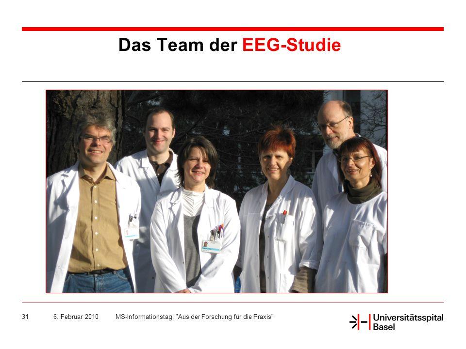 6. Februar 2010MS-Informationstag: Aus der Forschung für die Praxis 31 Das Team der EEG-Studie
