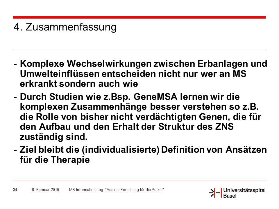 6.Februar 2010MS-Informationstag: Aus der Forschung für die Praxis 34 4.