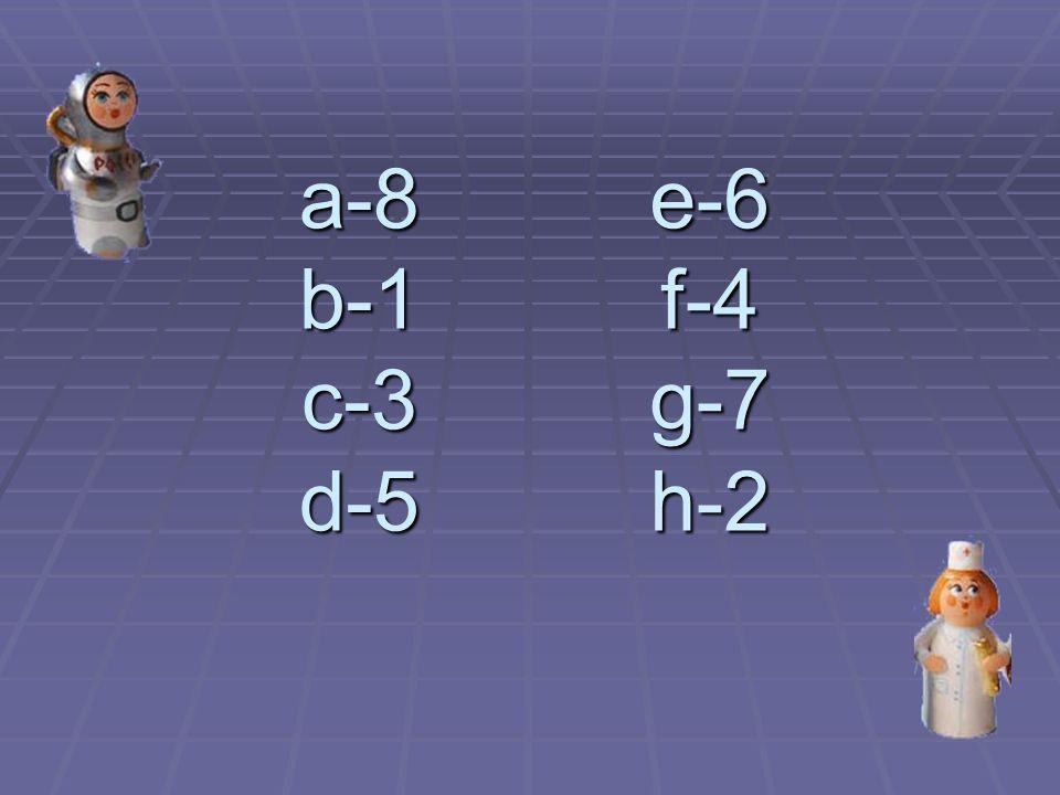 a-8 b-1 c-3 d-5 e-6 f-4 g-7 h-2
