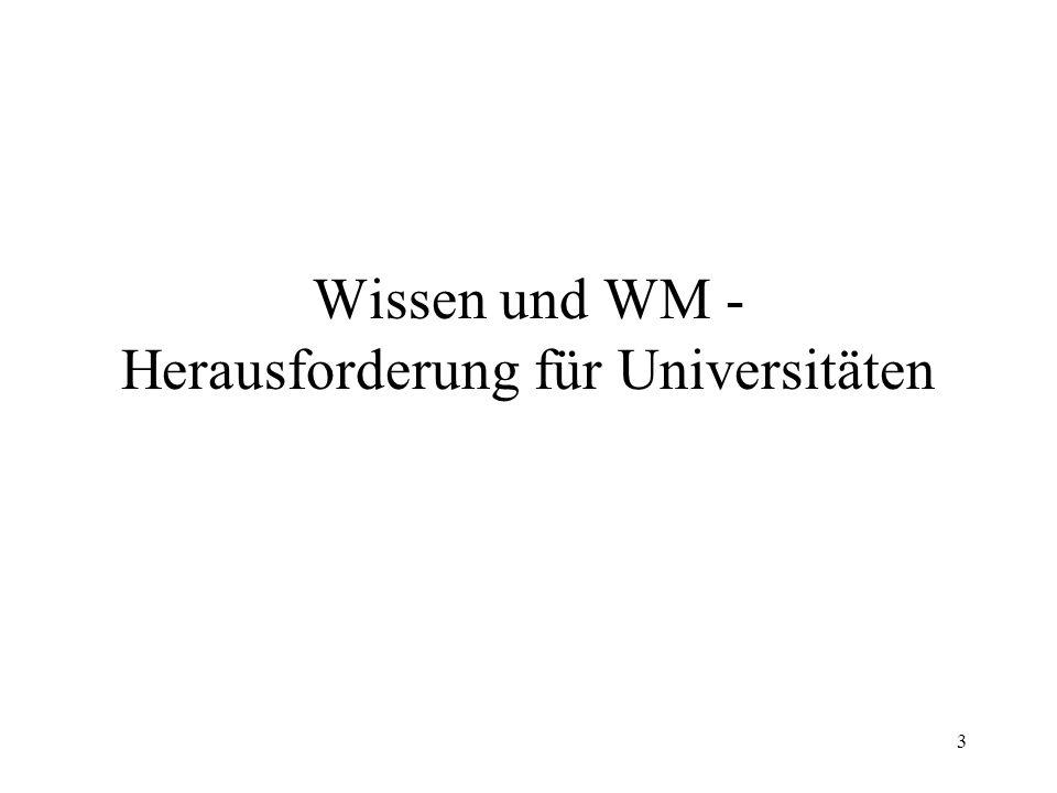 3 Wissen und WM - Herausforderung für Universitäten