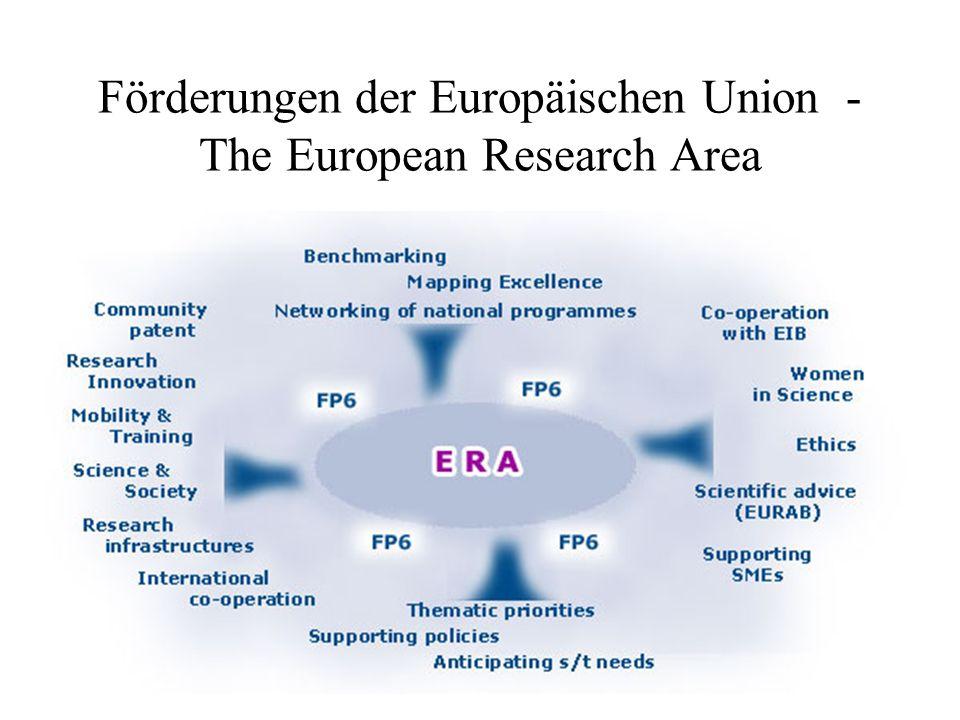 30 Förderungen der Europäischen Union - The European Research Area