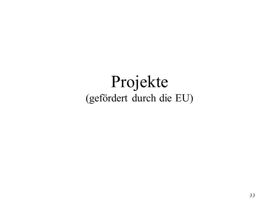33 Projekte (gefördert durch die EU)