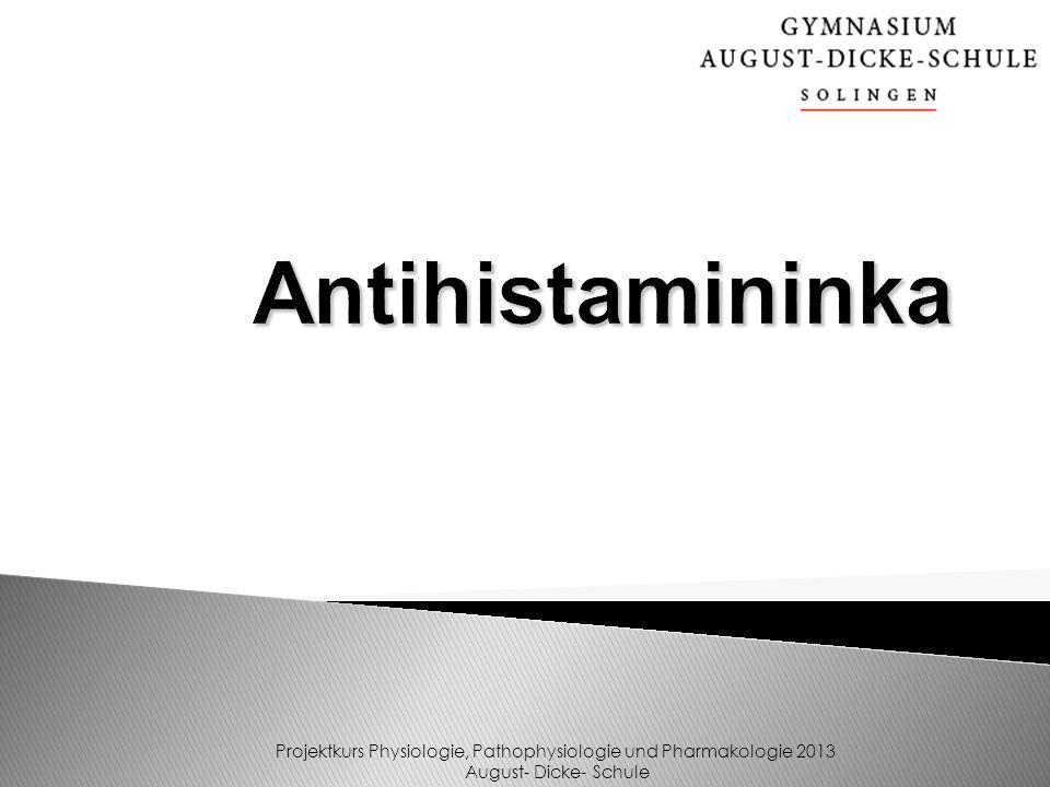 Was sind Antihistaminika.