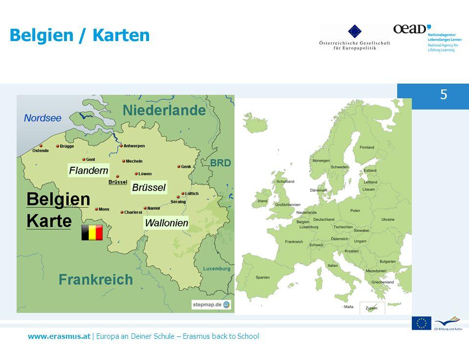 www.erasmus.at | Europa an Deiner Schule – Erasmus back to School Belgien / Karten 5