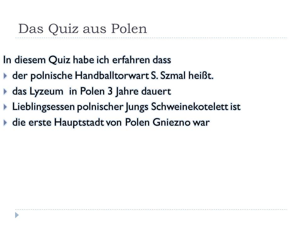 Das Quiz aus Polen