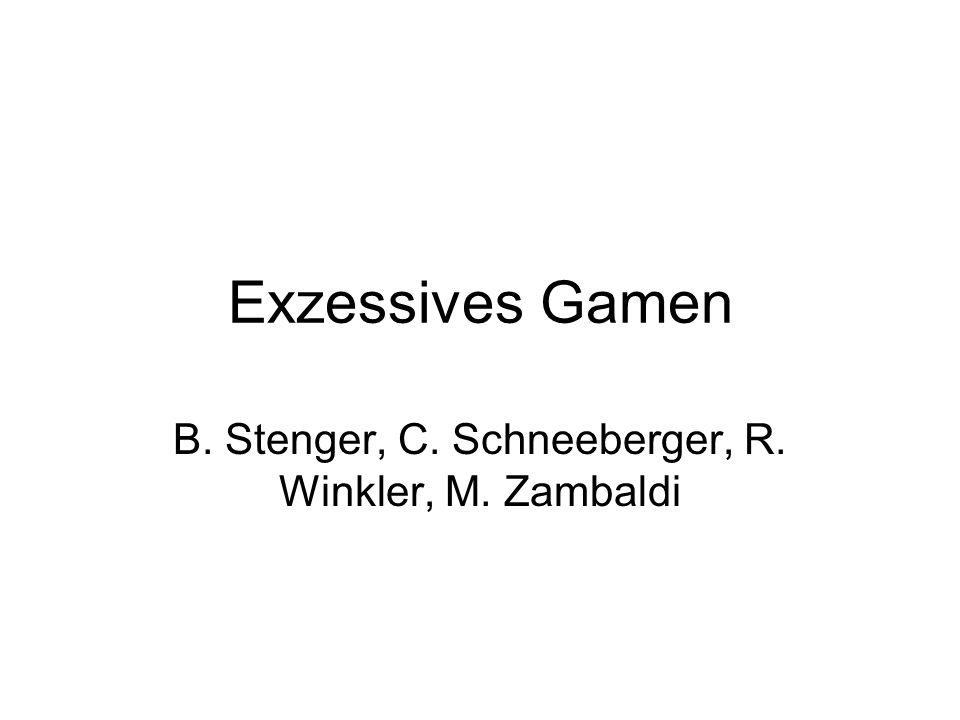 Exzessives Gamen B. Stenger, C. Schneeberger, R. Winkler, M. Zambaldi