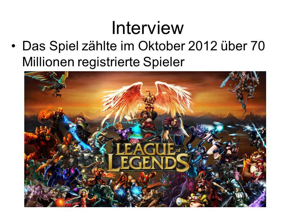Interview Das Spiel zählte im Oktober 2012 über 70 Millionen registrierte Spieler