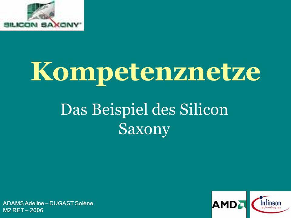 ADAMS Adeline – DUGAST Solène M2 RET – 2006 Silicon Saxony I.Die Kompetenznetze II.Das Beispiel des Silicon Saxony III.Erfolgsfaktoren des Silicon Saxony IV.Zu kommende Herausforderungen