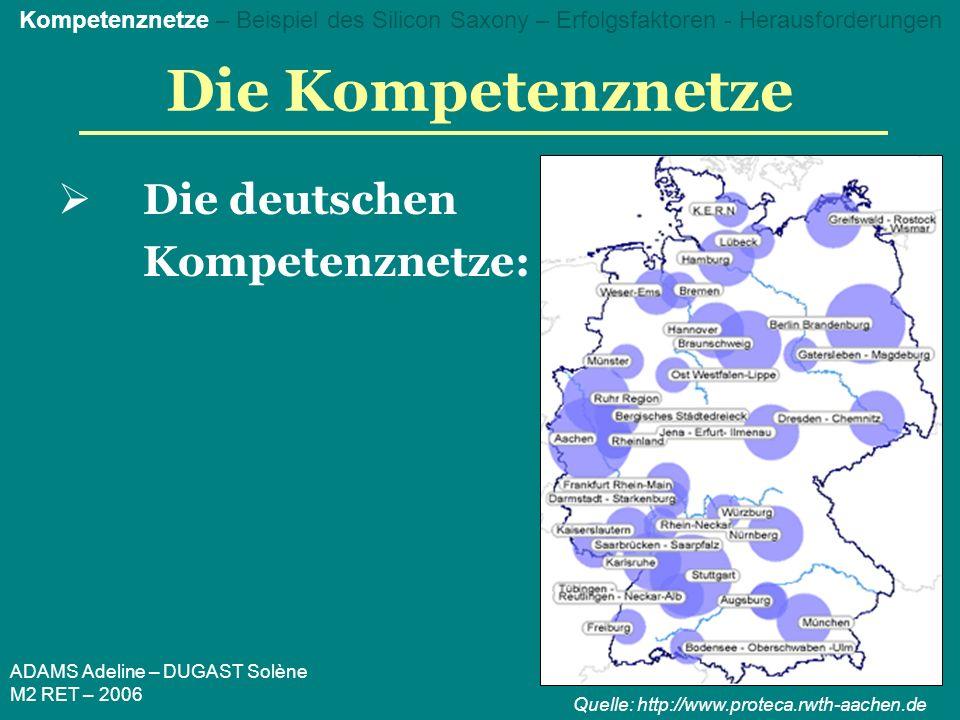 ADAMS Adeline – DUGAST Solène M2 RET – 2006 Das Beispiel des Silicon Saxony Geschichtlicher Überblick: 19.
