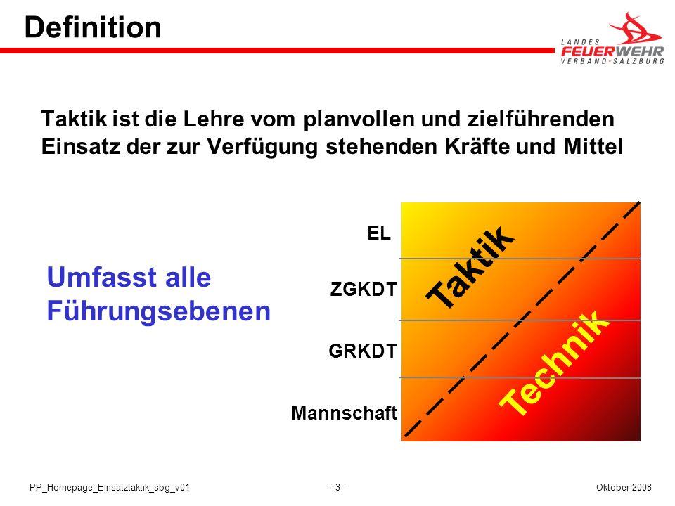 - 14 -Oktober 2008PP_Homepage_Einsatztaktik_sbg_v01 Planung 1.Maßnahmen zur Gefahrenabwehr z.B.