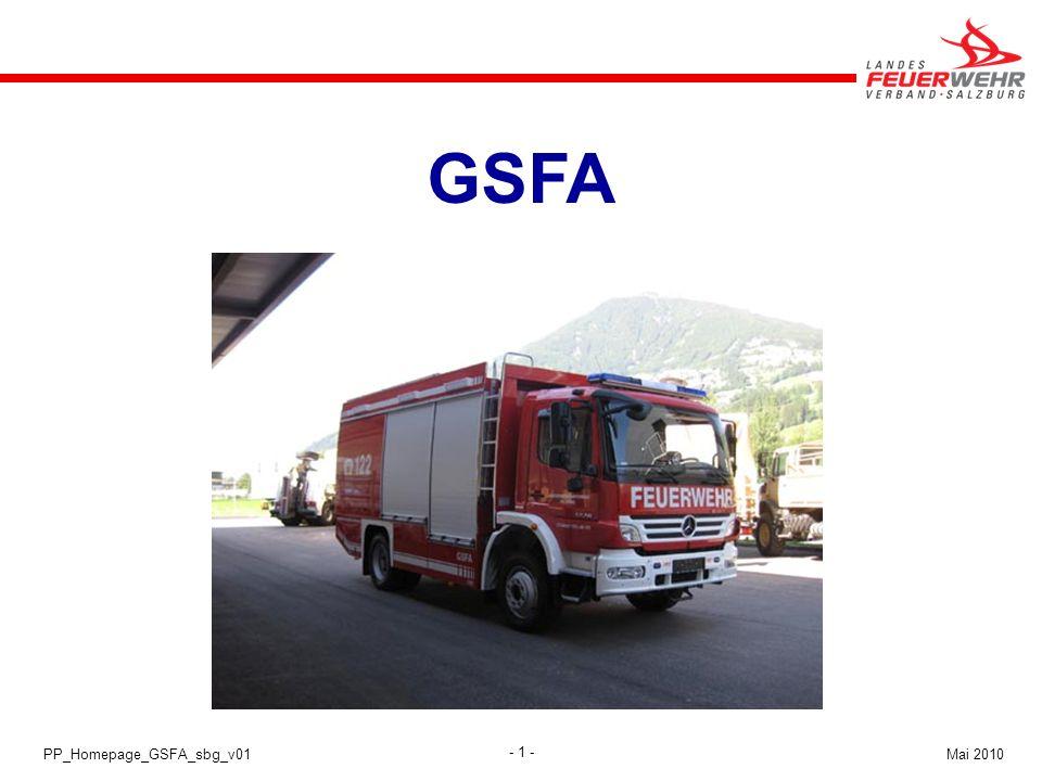 - 1 - Mai 2010PP_Homepage_GSFA_sbg_v01 GSFA