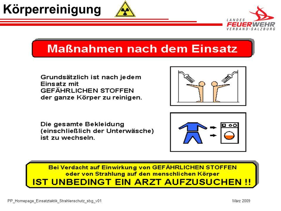 PP_Homepage_Einsatztaktik_Strahlenschutz_sbg_v01 März 2009 Körperreinigung