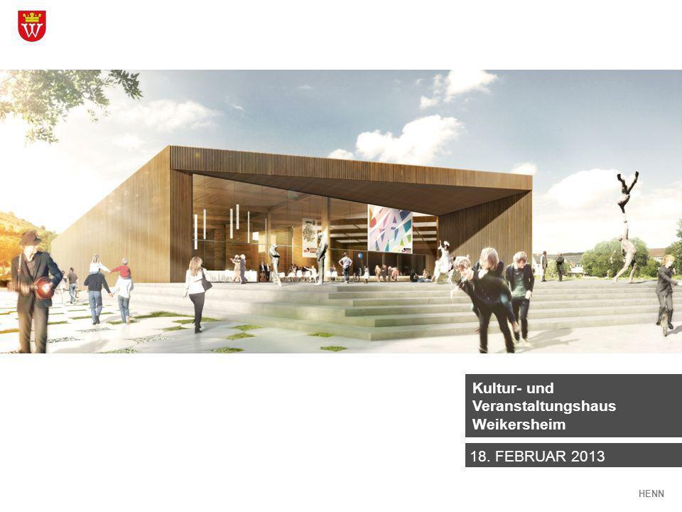 Kultur- und Veranstaltungshaus Weikersheim HENN VORENTWURF NUTZUNGSPOTENZIALE ENTSCHEIDUNGSBEDARF AGENDA