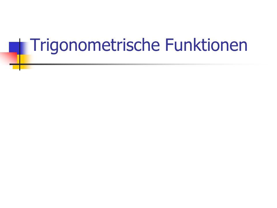 Trigonometrische Funktionen