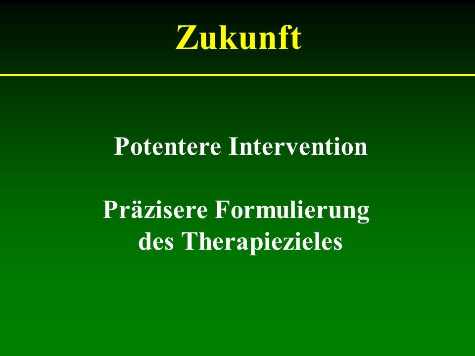 Zukunft Potentere Intervention Präzisere Formulierung des Therapiezieles