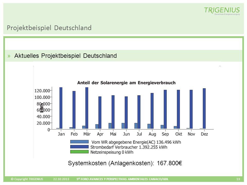 © Copyright TRIGENIUS Projektbeispiel Deutschland 22.10.2013 9º FORO AVANCES Y PERSPECTIVAS AMBIENTALES CANACO/GDL 13 »Aktuelles Projektbeispiel Deuts