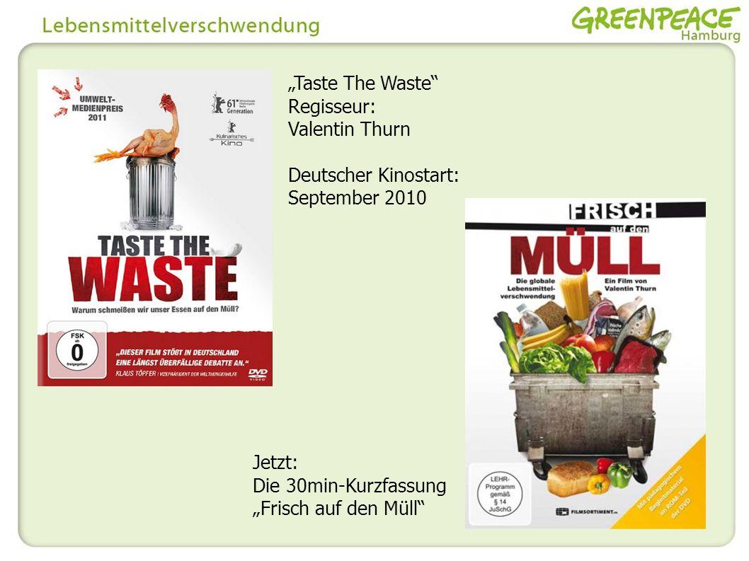 Regisseur: Valentin Thurn Deutscher Kinostart: September 2010 Jetzt: Die 30min-Kurzfassung Frisch auf den Müll