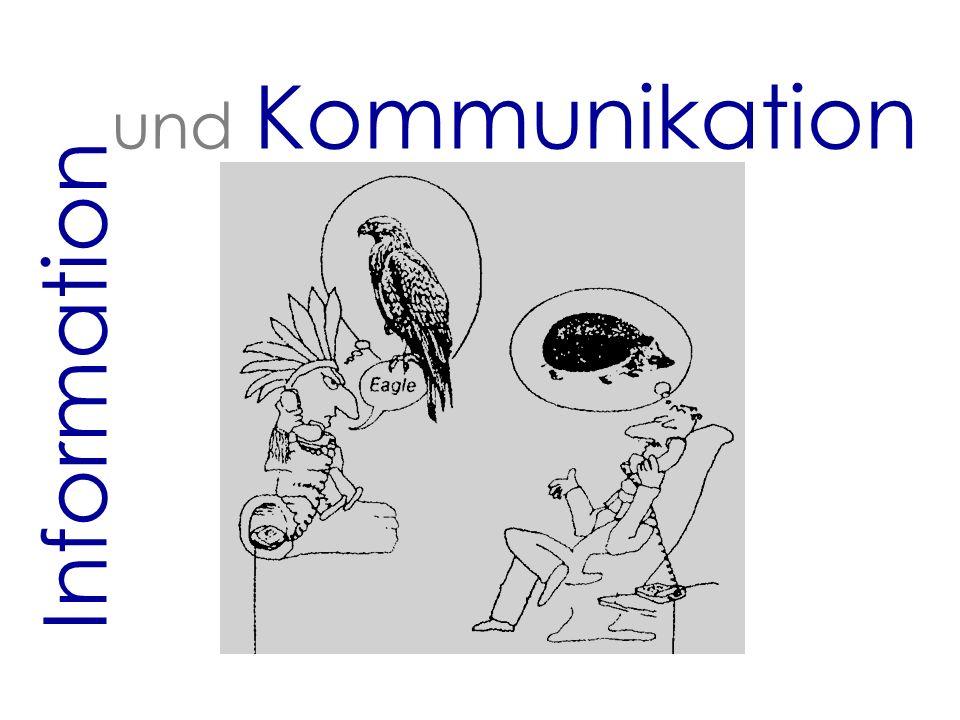 2 Information und Kommunikation Begriffserklärung Daten isolierte, nicht interpretierte Fakten (digitalisierte Werte: Wörter, Code) Nachricht Daten von SenderInnen an EmpfängerInnen Informationen verknüpfte, mit Bedeutung versehene Daten Wissen individuell verarbeitete Informationen (an Personen gebunden)