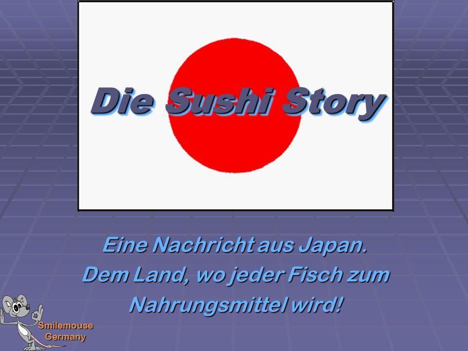 Smilemouse Germany Anmerkung: Allein das Aussehen der japanischen Schriftzeichen für Sushi verheißt schon nichts gutes!.