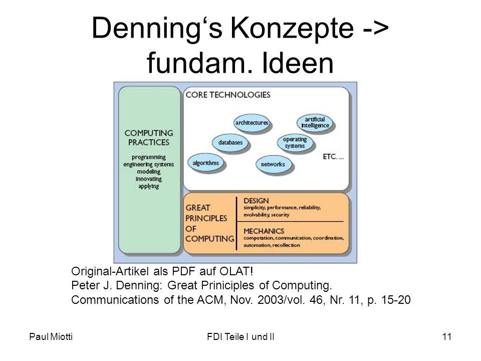 Paul MiottiFDI Teile I und II11 Dennings Konzepte -> fundam.