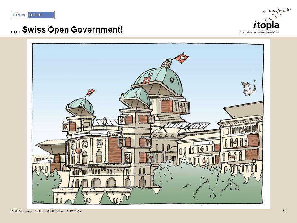 .... Swiss Open Government! OGD Schweiz - OGD DACHLI Wien - 4.10.201210