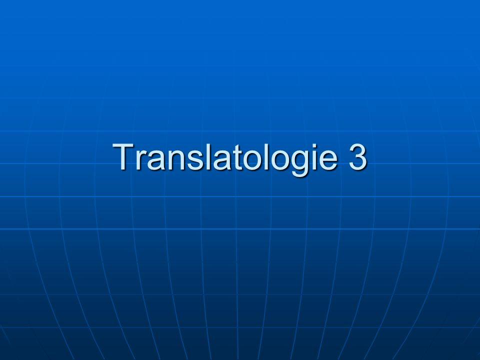 Prinzipielle Übersetzbarkeit L.