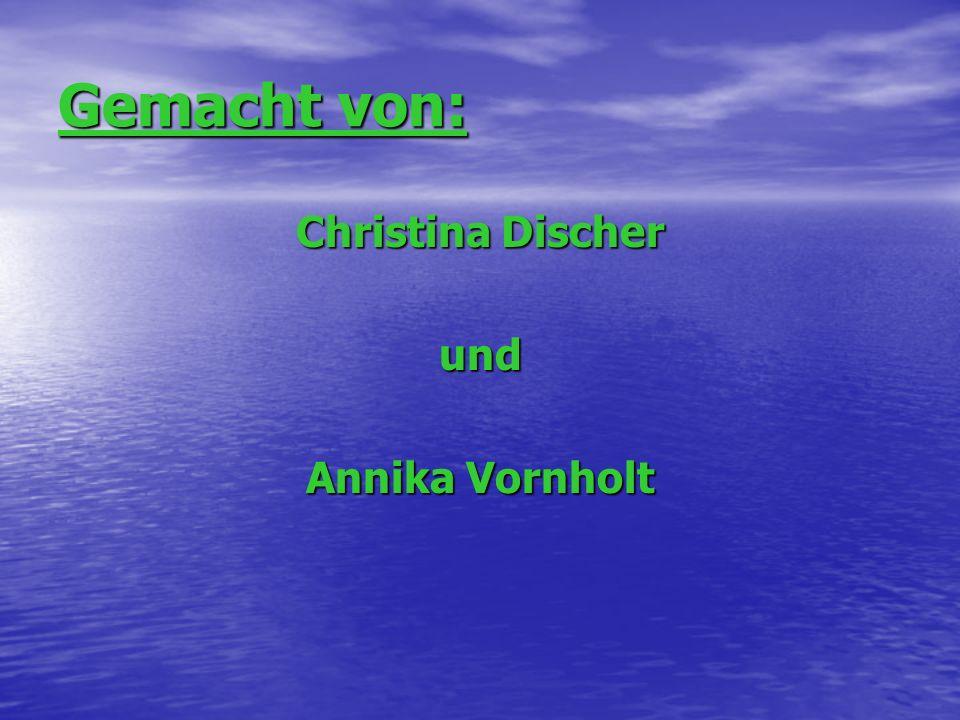 Gemacht von: Christina Discher und Annika Vornholt