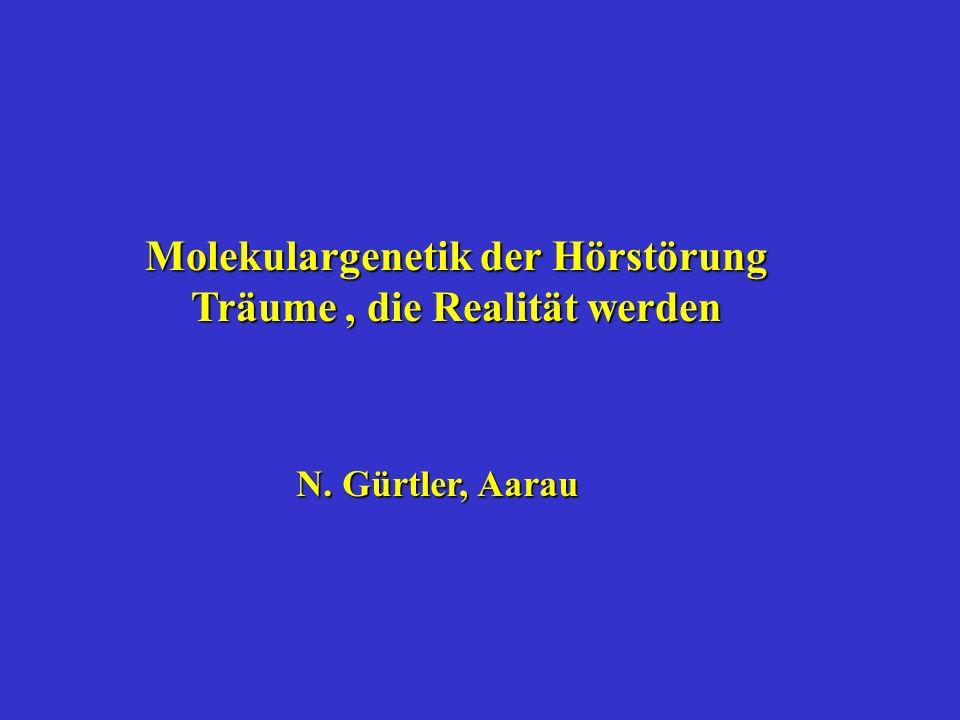 Molekulargenetik der Hörstörung Träume, die Realität werden N. Gürtler, Aarau