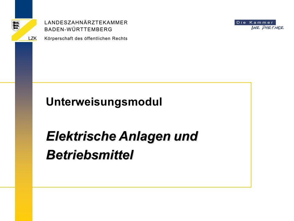 Unterweisungsmodul Elektrische Anlagen und Betriebsmittel