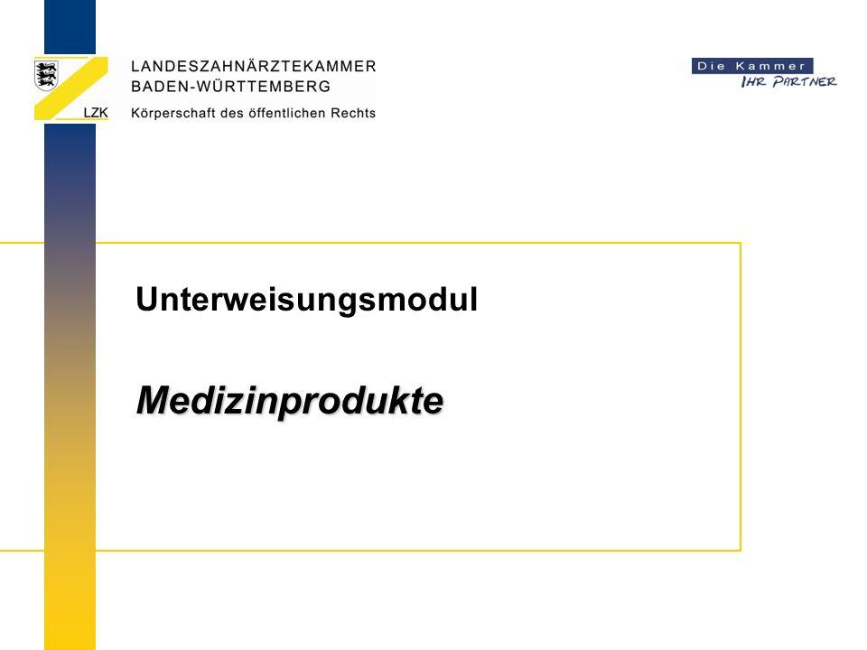 UnterweisungsmodulMedizinprodukte