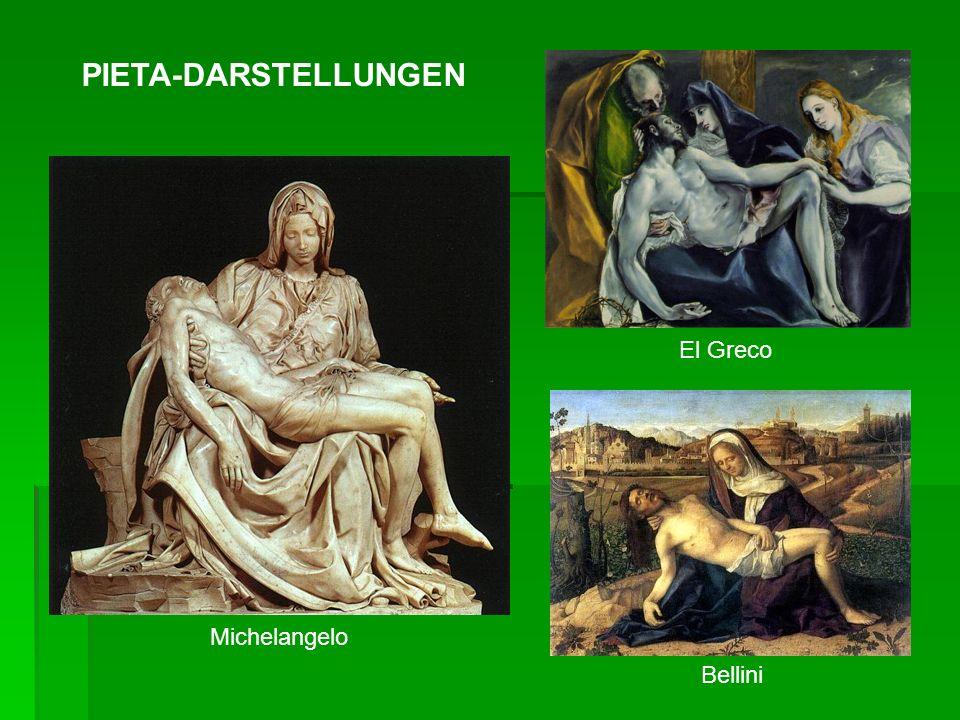 Michelangelo El Greco Bellini PIETA-DARSTELLUNGEN