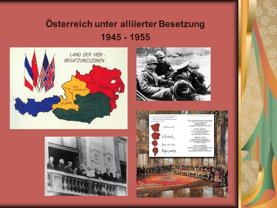 Österreich unter alliierter Besetzung 1945 - 1955